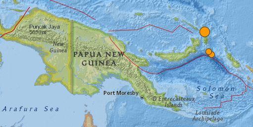earthquake Papua New Guinea August 31 2016 magnitude 6.7