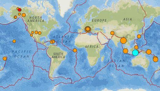 earthquakes 3 quakes greater than 6.0